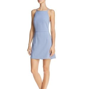 French connection a-line blue dress
